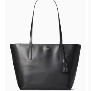NWT! Kate Spade Emilia Large Black Leather Tote